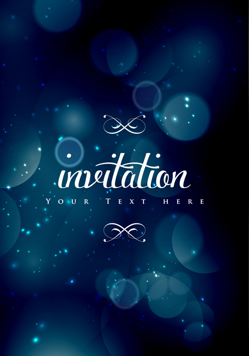 colored halation invitations background vector 01 free download