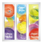 Link toColored watercolor banners vector