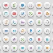 Creative 3d social psd icons