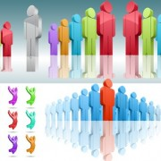 Link toCreative 3d colored people vector