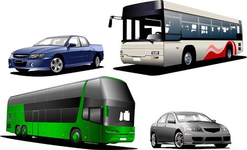 Creative Bus design vector material 01
