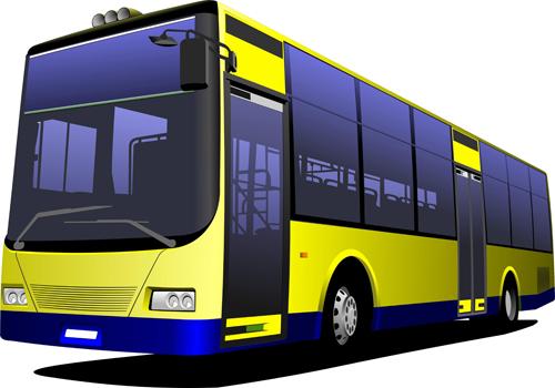 Creative Bus design vector material 02