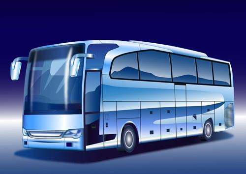 Creative Bus design vector material 03