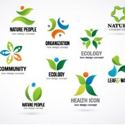 Link toCreative ecology logos design vector set 01