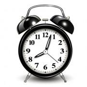 Link toCreative black alarm clock design vector
