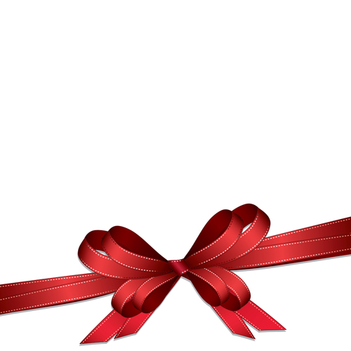 Red bow design vector graphics