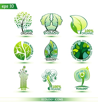 Creative Ecology Icons Design Graphic Vector Other Icons