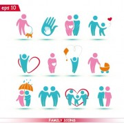 Link toCreative family icons design graphic vector