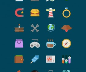 Creative flat psd icons material