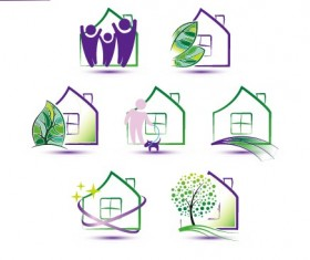 Creative house icons design graphic vector