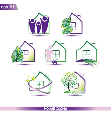 creative house icons design graphic vector home graphic design. beautiful ideas. Home Design Ideas
