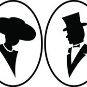 Link toCreative man and woman silhouettes vector set 01