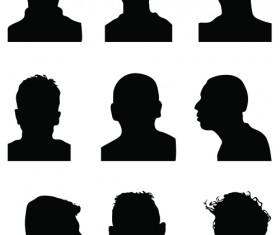 Creative man and woman silhouettes vector set 03