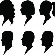 Link toCreative man and woman silhouettes vector set 05