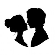 Link toCreative man and woman silhouettes vector set 07