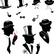 Link toCreative man and woman silhouettes vector set 08