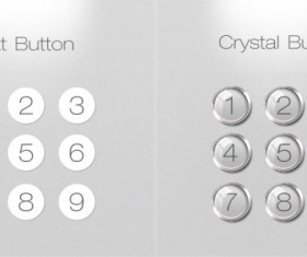 Creative numeric buttons psd