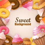 Link toCreative sweets vector background art 02