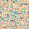 Creative travel elements seamless pattern vector