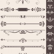 Link toCreative vintage ornaments with borders vector