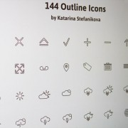 Creative weather outline icons psd