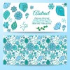 Cute abstract elements banners vectors 05
