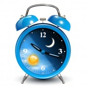 Link toCute blue alarm clock design vector