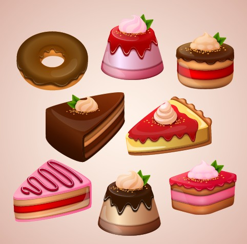 Cute cake design vector graphics - Vector Food free download