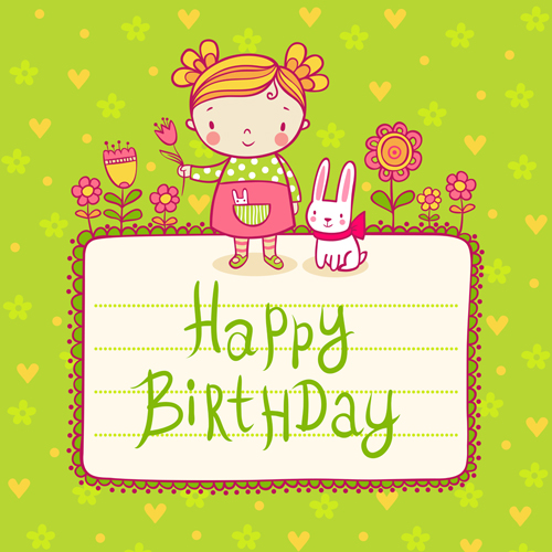 Cute child with rabbit birthday card vector vector animal free cute child with rabbit birthday card vector bookmarktalkfo Choice Image