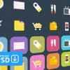 Cute colored application icons psd
