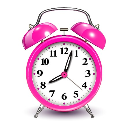 Cute pink alarm clock design vector – Over millions ...
