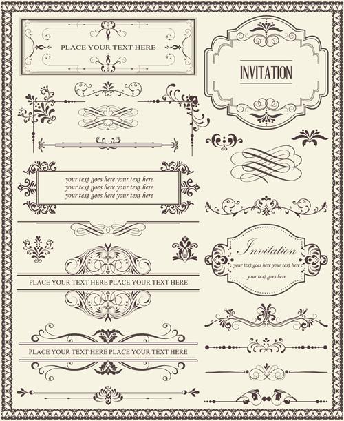 Ornamental Elements And Frames Vectors Free Download