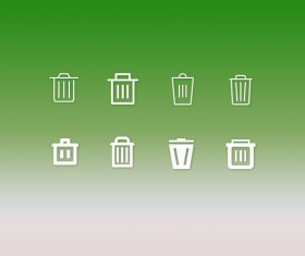 Delete and trash psd icons