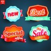 Different labels stickers creative vector set 04