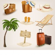 Link toDifferent travel elements icons vector