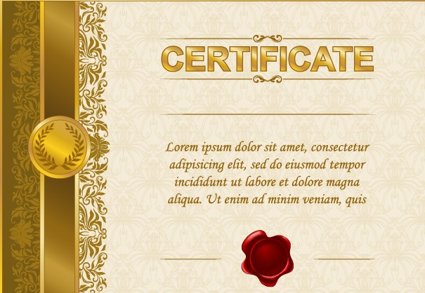 excellent certificate and diploma template design 04 - Certificate Template