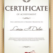Link toExquisite certificate frames with template vector 04