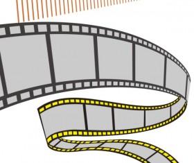 Film elements design vector material