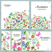 Link toFloral and flower invitation cards vector graphic 02