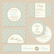 Link toFloral retro cards with element vector