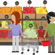 Link toFood supermarket design vector graphics 02