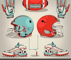 Football elements design vector set