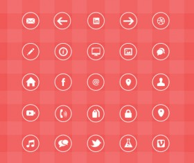 Free creative web icons material