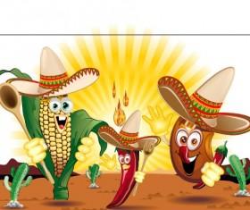 Funny cartoon vegetables characters vector