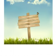 Link toGrass with wood billboard vector background