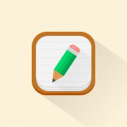 Green pencil icons psd