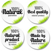 Link toGreen grass with sale round stickers vector