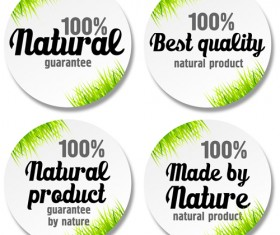 Green grass with sale round stickers vector