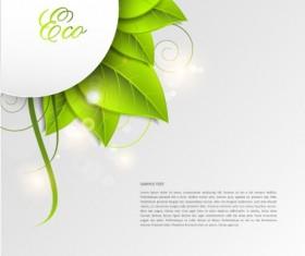 Green world creative Eco background vector 01