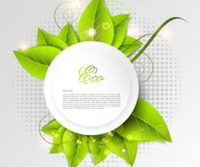 Green world creative Eco background vector 02